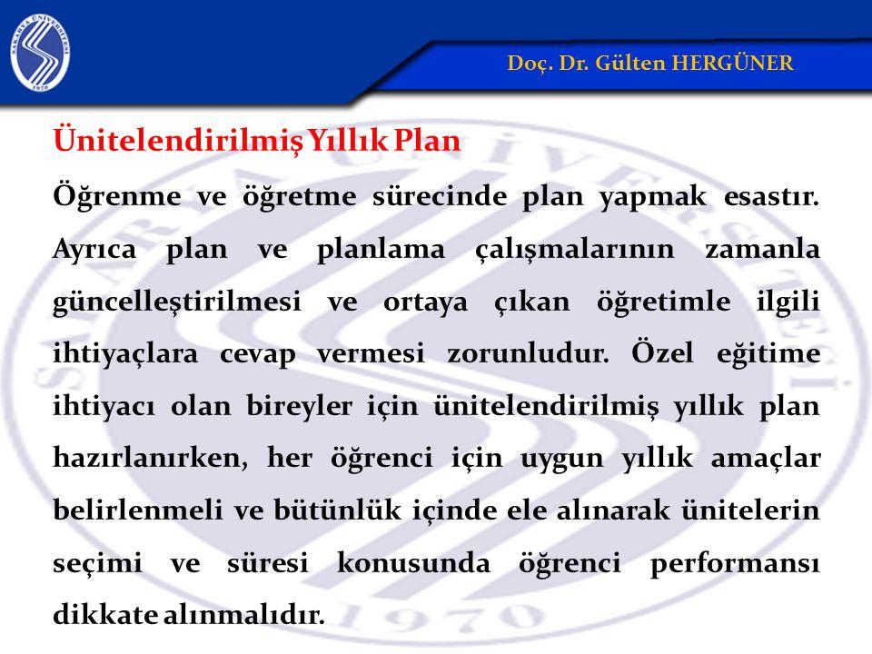 Ünitelendirilmiş Yıllık Plan