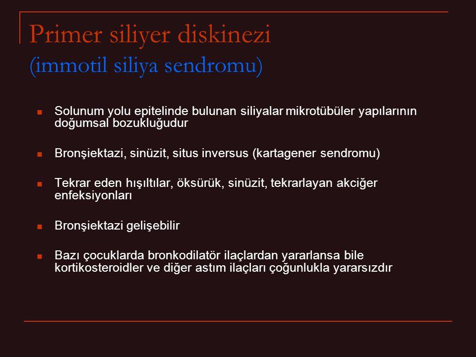 Primer siliyer diskinezi (immotil siliya sendromu)