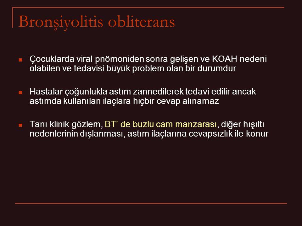Bronşiyolitis obliterans