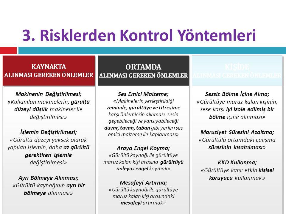 3. Risklerden Kontrol Yöntemleri