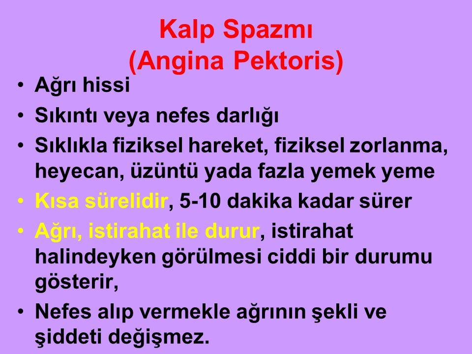 Kalp Spazmı (Angina Pektoris)