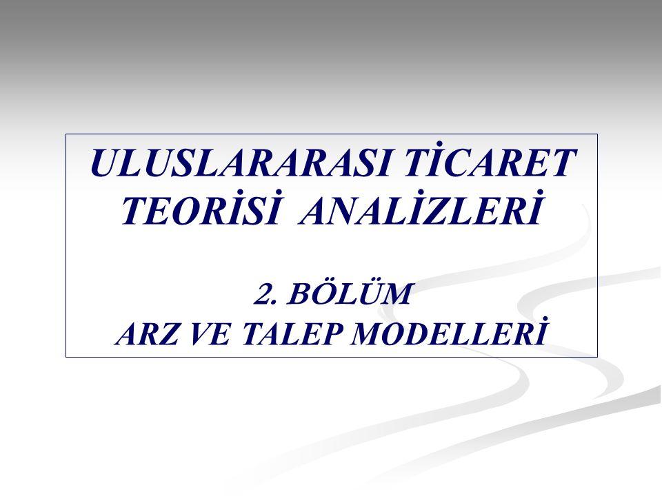 ULUSLARARASI TİCARET TEORİSİ ANALİZLERİ