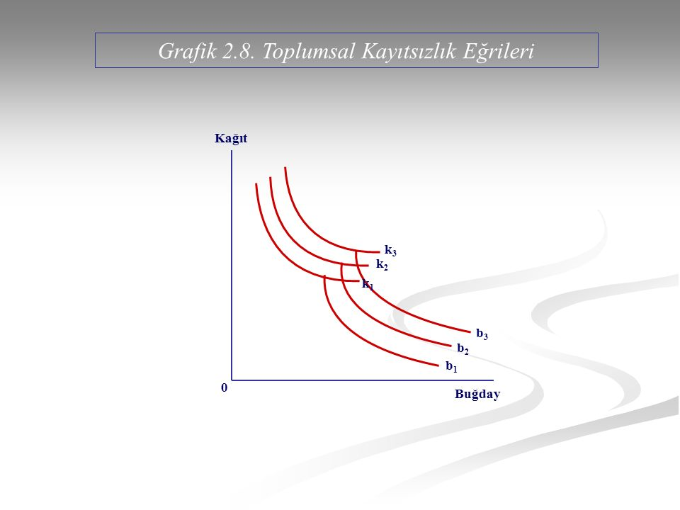 Grafik 2.8. Toplumsal Kayıtsızlık Eğrileri
