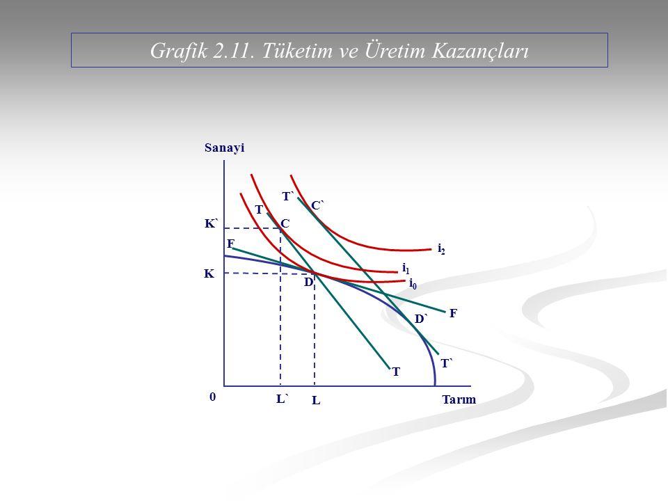 Grafik 2.11. Tüketim ve Üretim Kazançları