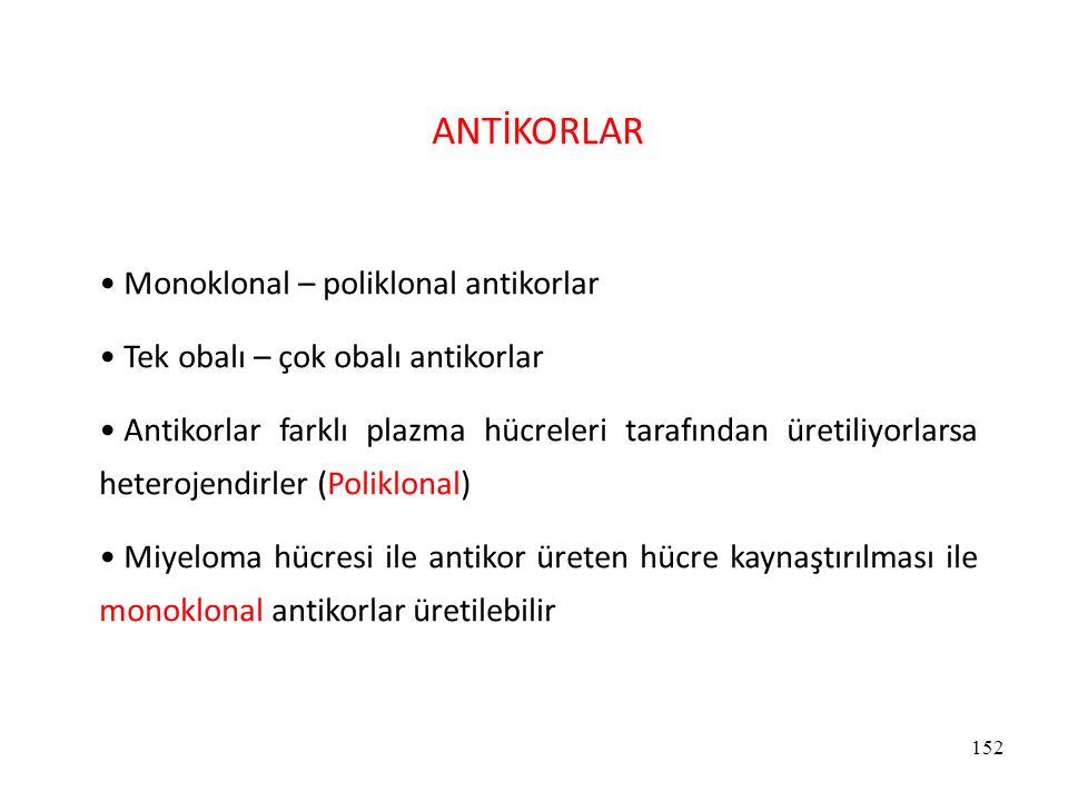 ANTİKORLAR Monoklonal – poliklonal antikorlar