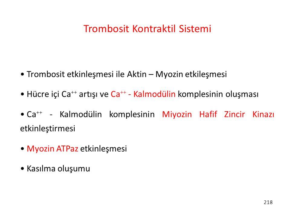 Trombosit Kontraktil Sistemi