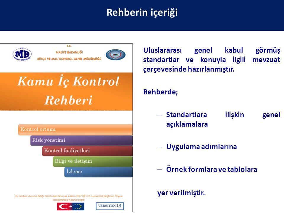 Rehberin içeriği Uluslararası genel kabul görmüş standartlar ve konuyla ilgili mevzuat çerçevesinde hazırlanmıştır.