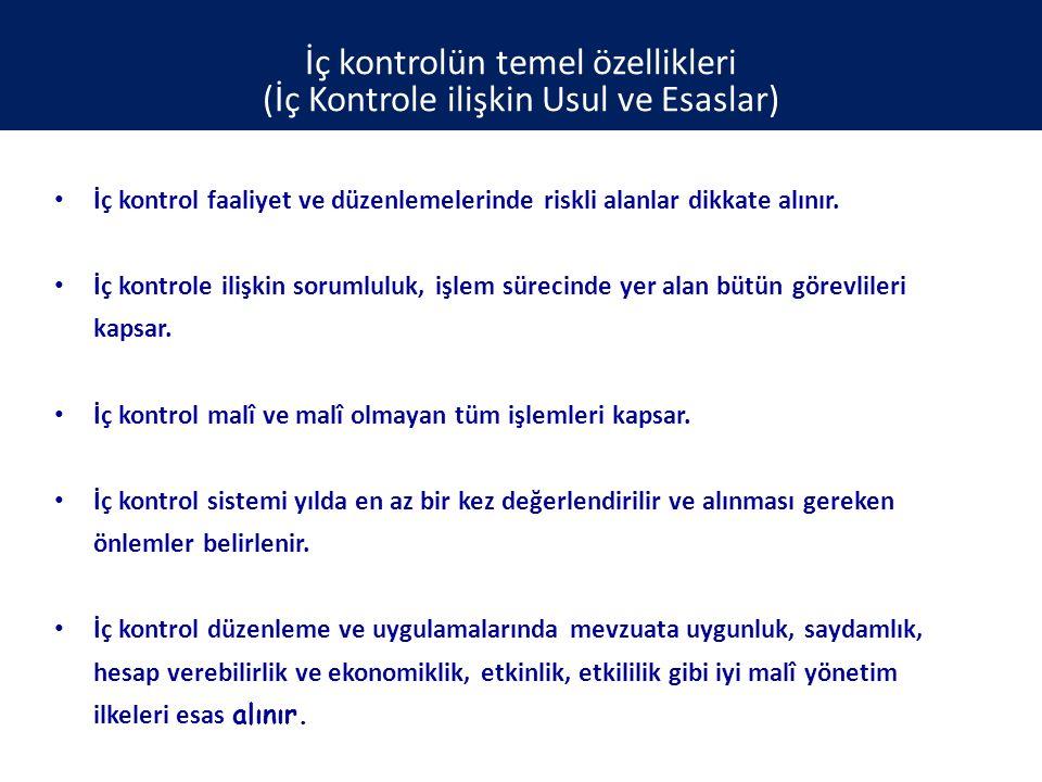 İç kontrolün temel özellikleri (İç Kontrole ilişkin Usul ve Esaslar)