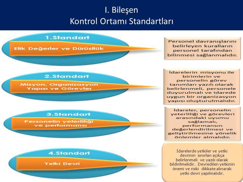 I. Bileşen Kontrol Ortamı Standartları