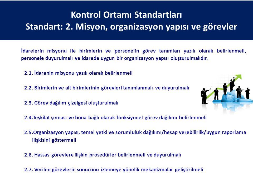 Kontrol Ortamı Standartları Standart: 2