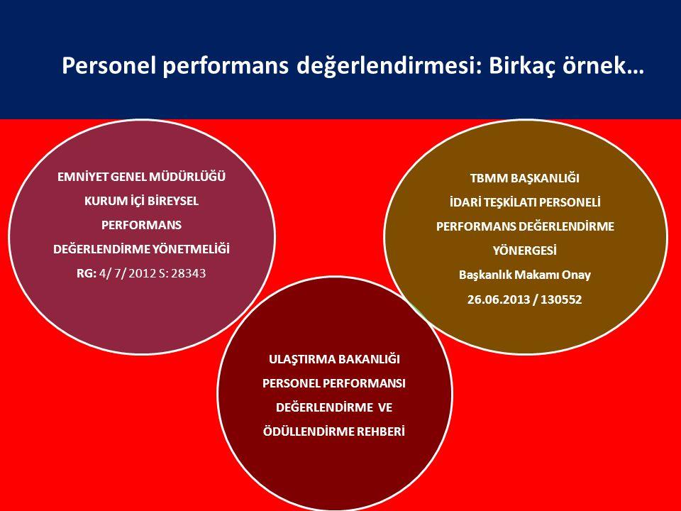 Personel performans değerlendirmesi: Birkaç örnek…