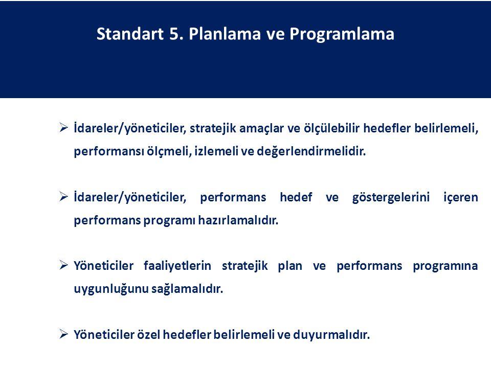 Standart 5. Planlama ve Programlama