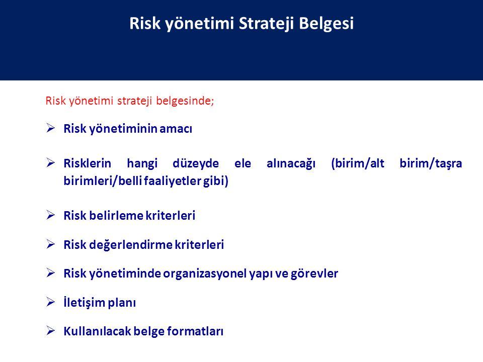 Risk yönetimi Strateji Belgesi
