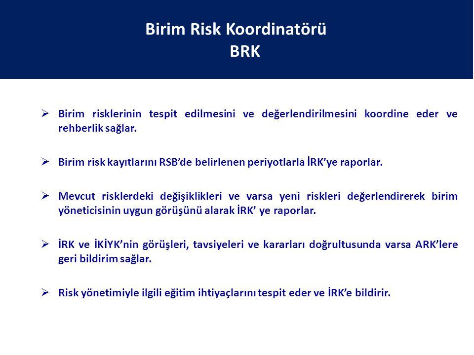 Birim Risk Koordinatörü BRK