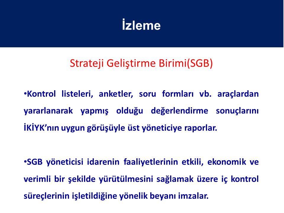 Strateji Geliştirme Birimi(SGB)