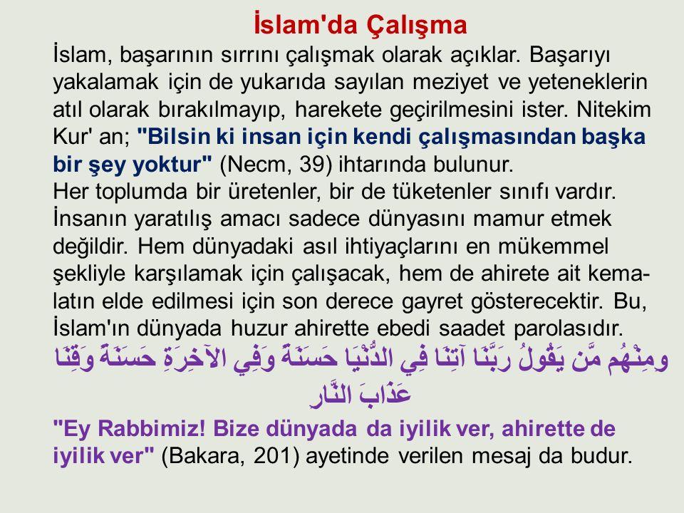 İslam da Çalışma