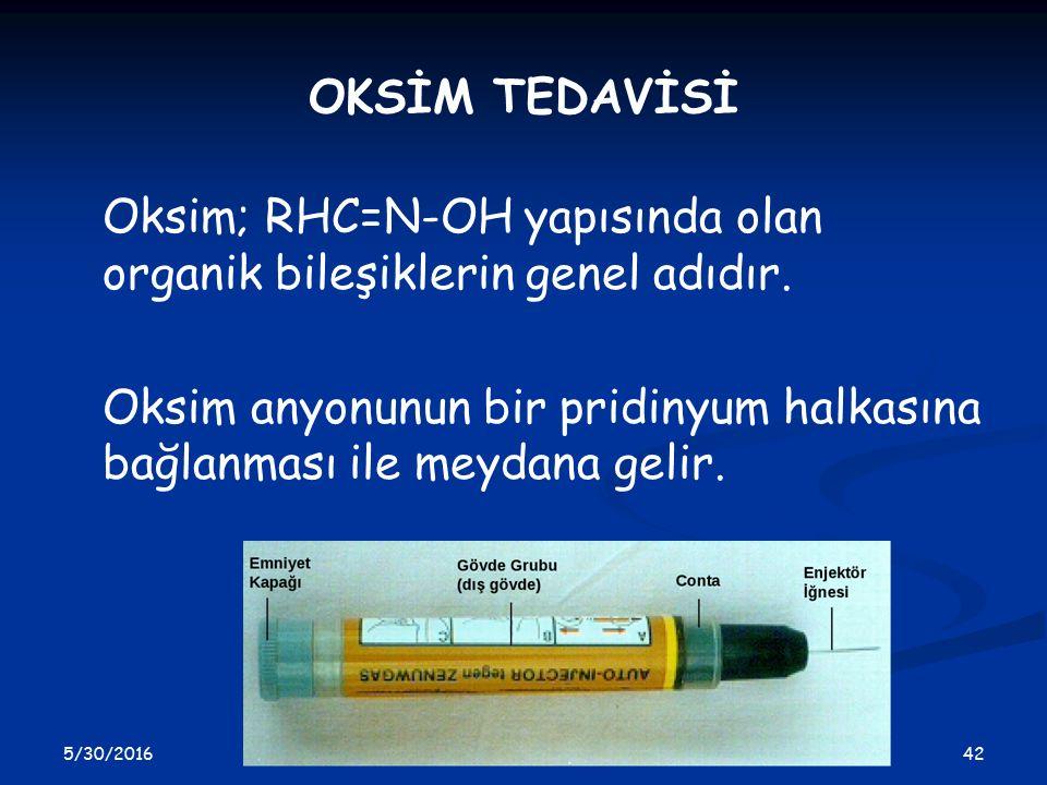 Oksim; RHC=N-OH yapısında olan organik bileşiklerin genel adıdır.