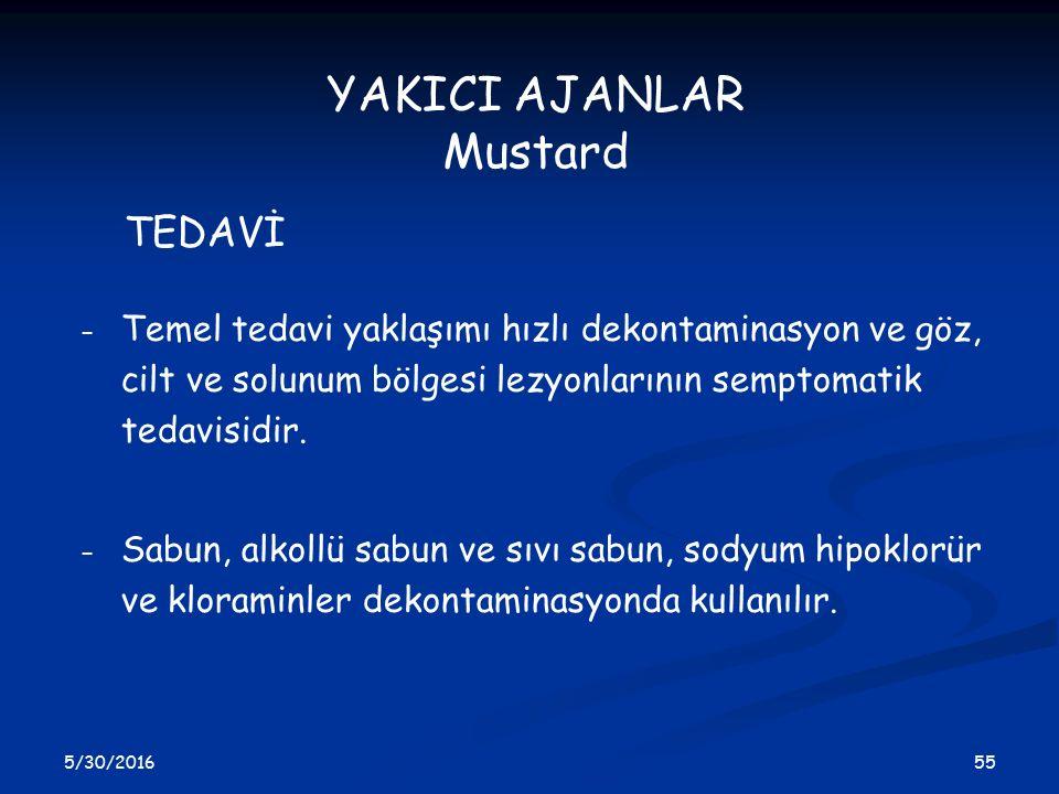 YAKICI AJANLAR Mustard TEDAVİ