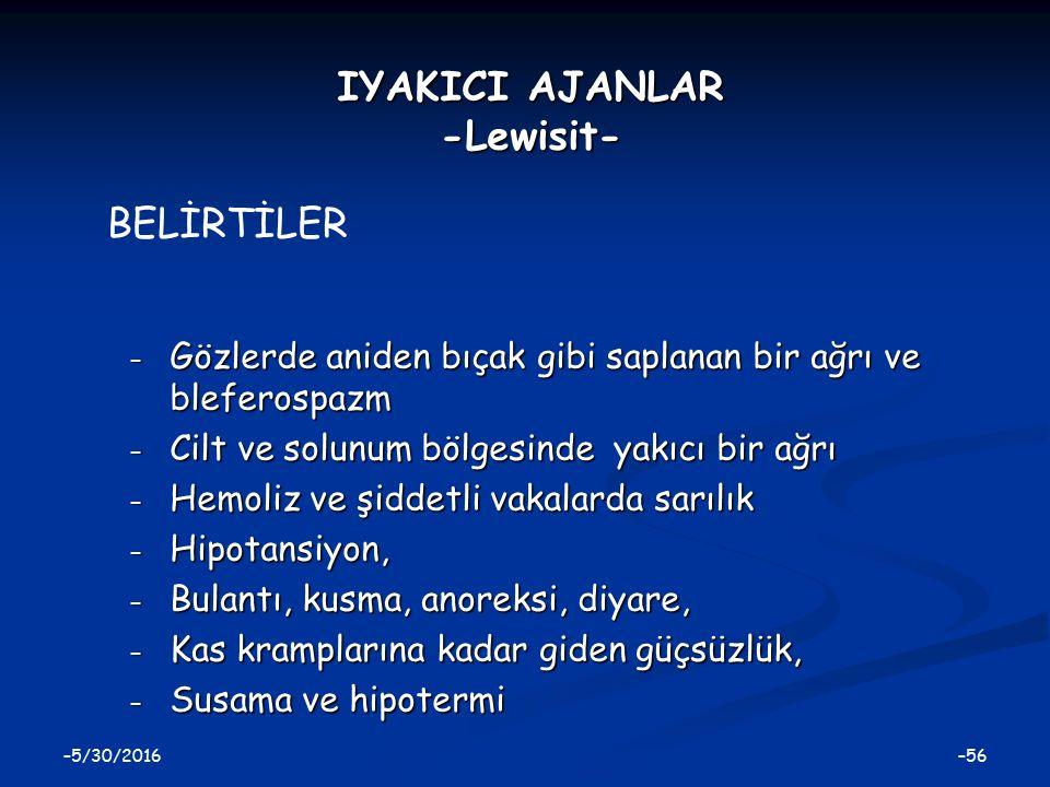 IYAKICI AJANLAR -Lewisit-