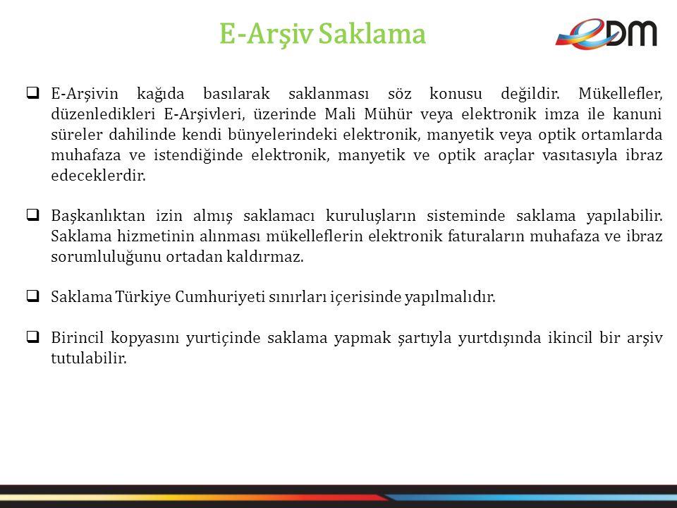 E-Arşiv Saklama