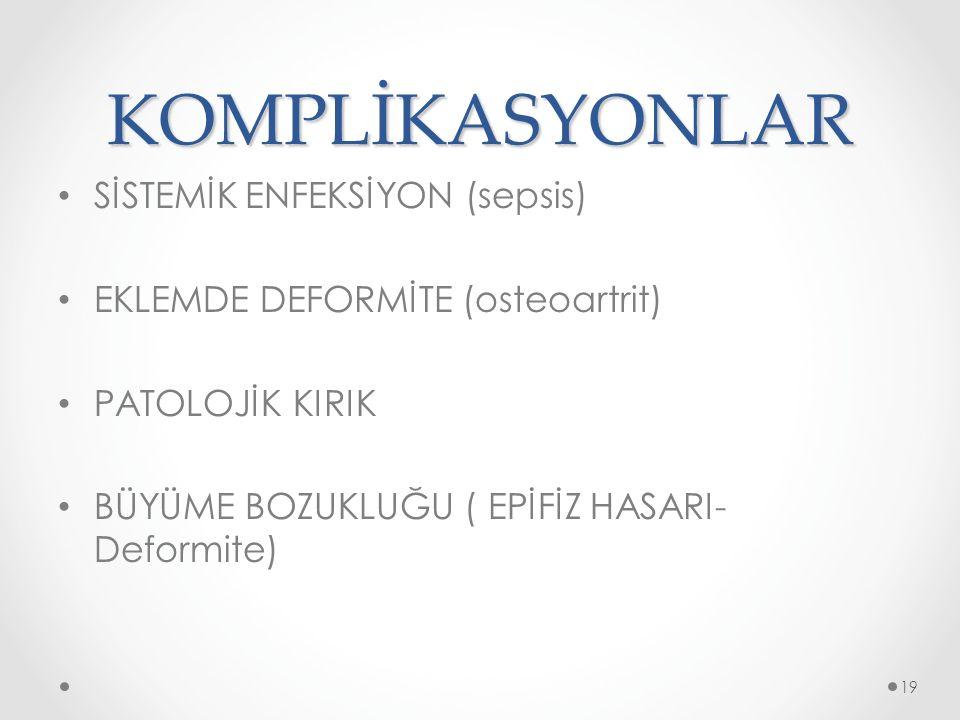 KOMPLİKASYONLAR SİSTEMİK ENFEKSİYON (sepsis)