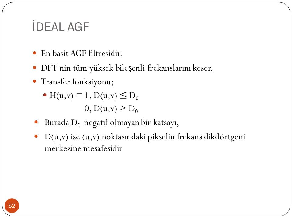 İDEAL AGF En basit AGF filtresidir.