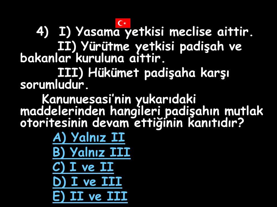 4) I) Yasama yetkisi meclise aittir.