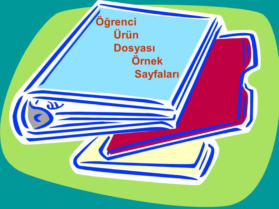 Öğrenci Ürün Dosyası Örnek Sayfaları