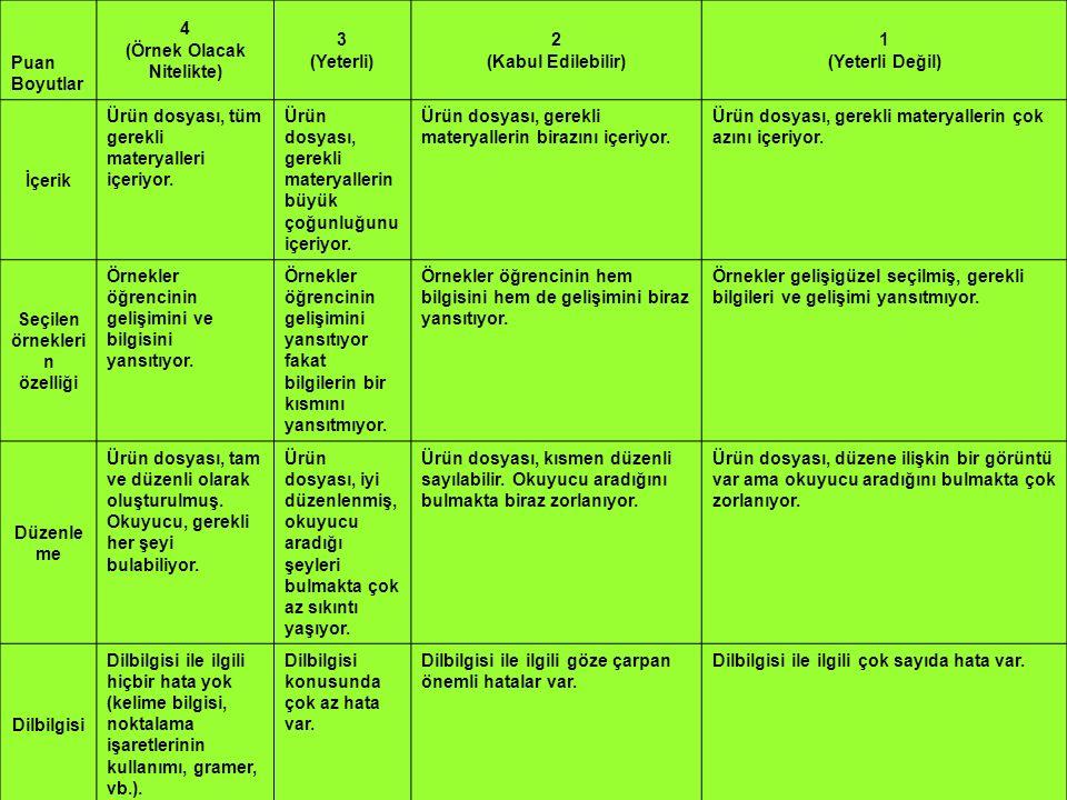 (Örnek Olacak Nitelikte) Seçilen örneklerin özelliği