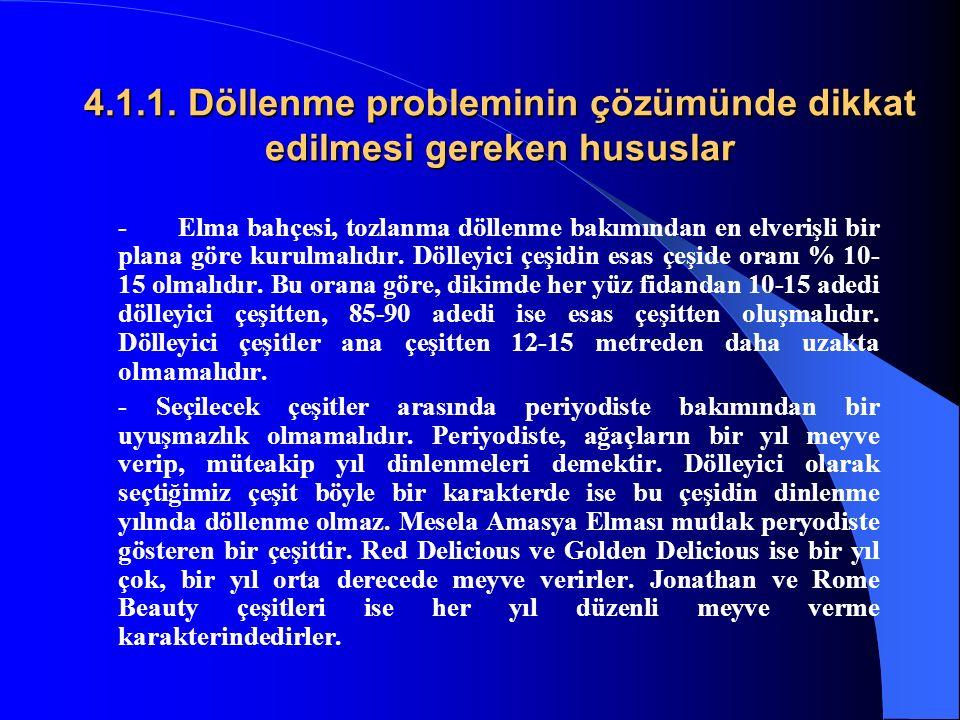 4.1.1. Döllenme probleminin çözümünde dikkat edilmesi gereken hususlar