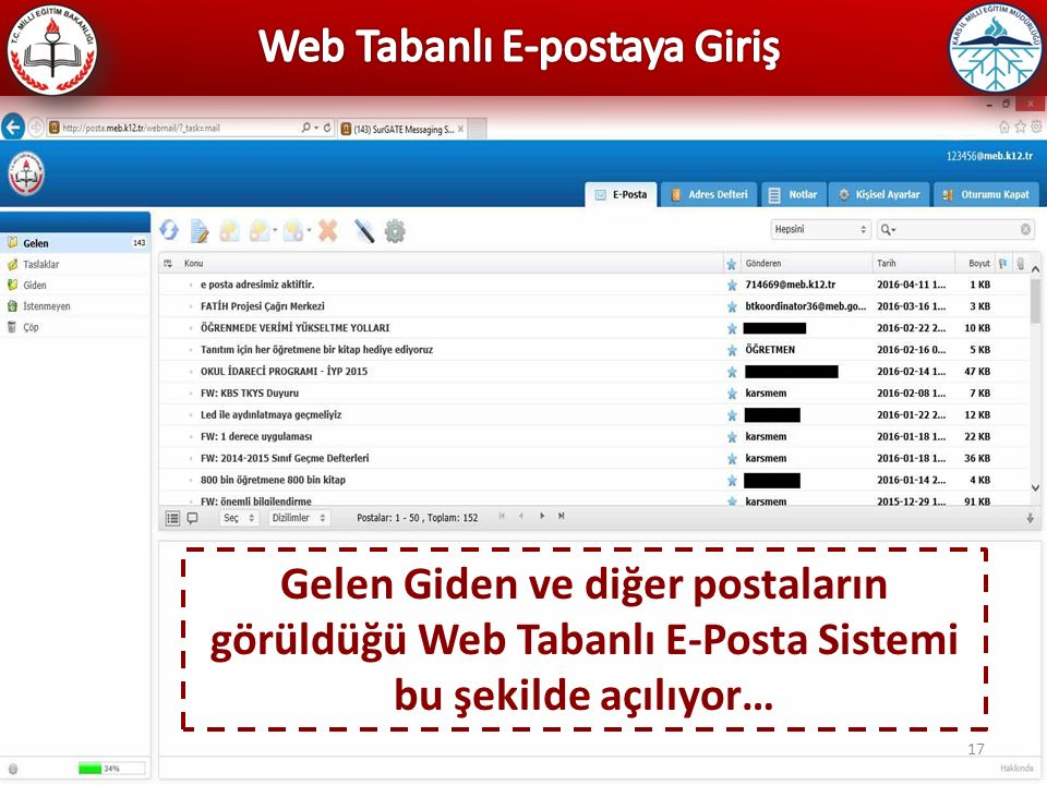 Web Tabanlı E-postaya Giriş