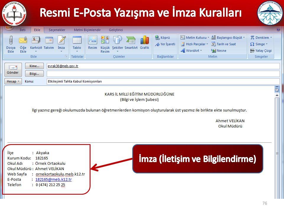 Resmi E-Posta Yazışma ve İmza Kuralları