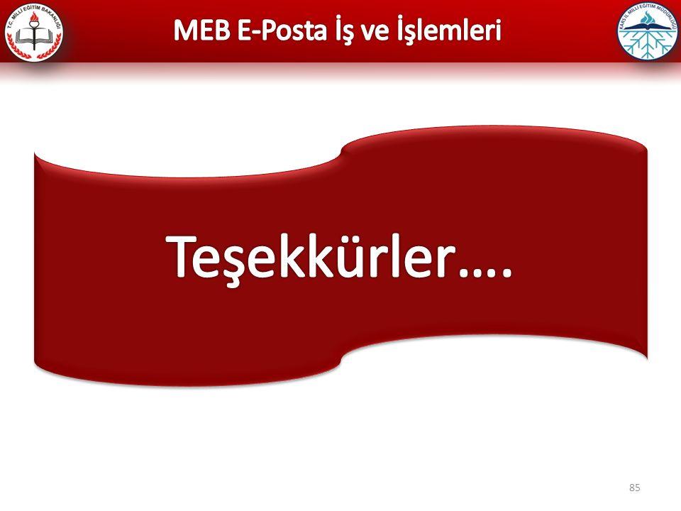 MEB E-Posta İş ve İşlemleri
