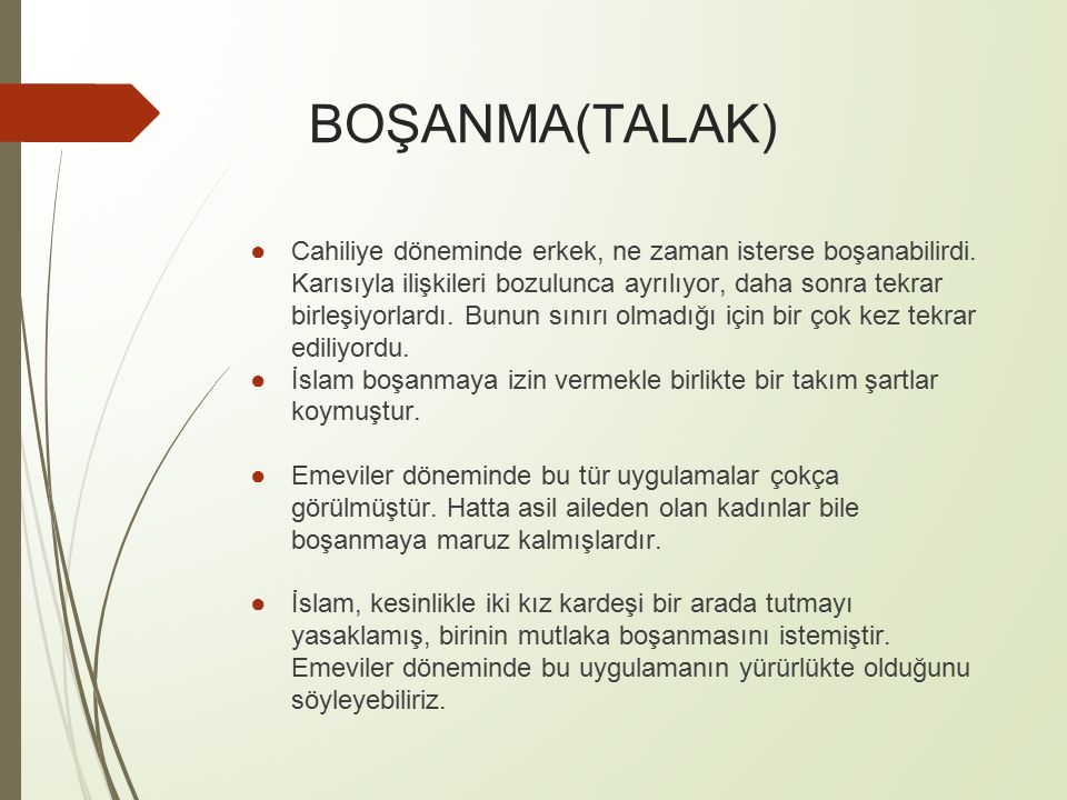 BOŞANMA(TALAK)
