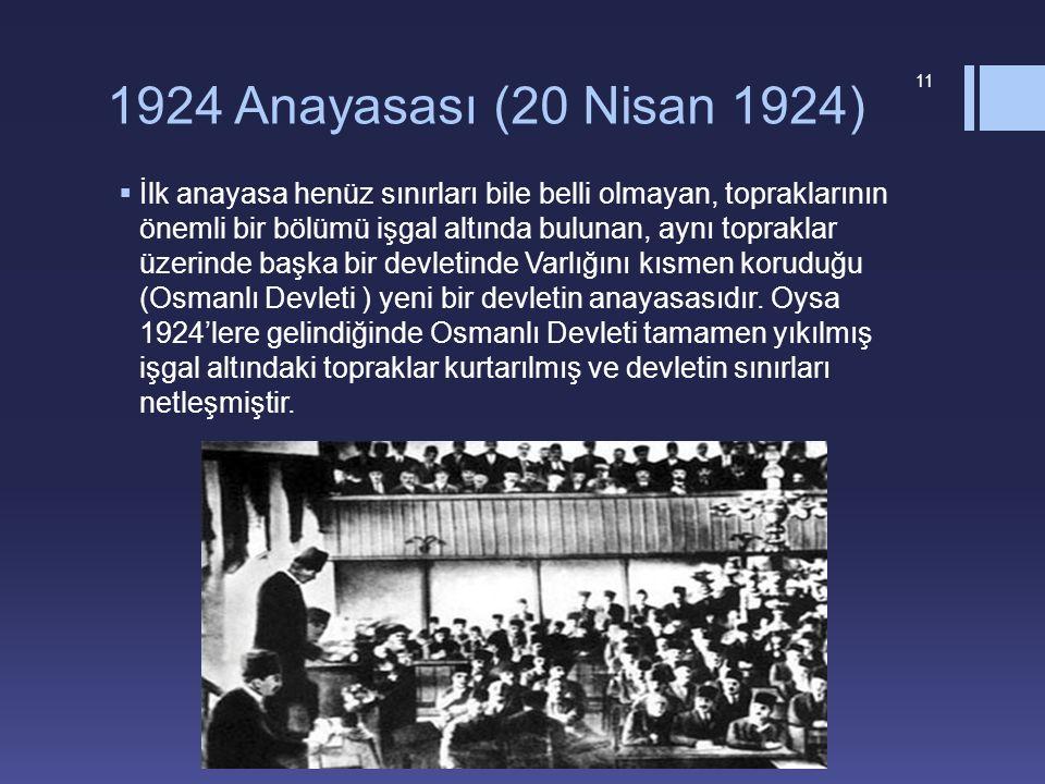 1924 Anayasası (20 Nisan 1924)