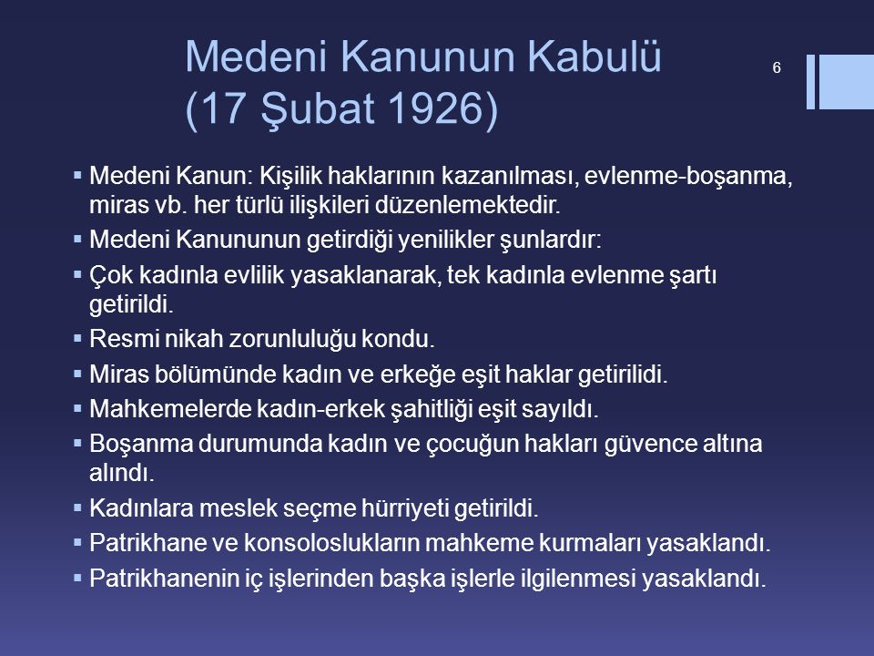 Medeni Kanunun Kabulü (17 Şubat 1926)