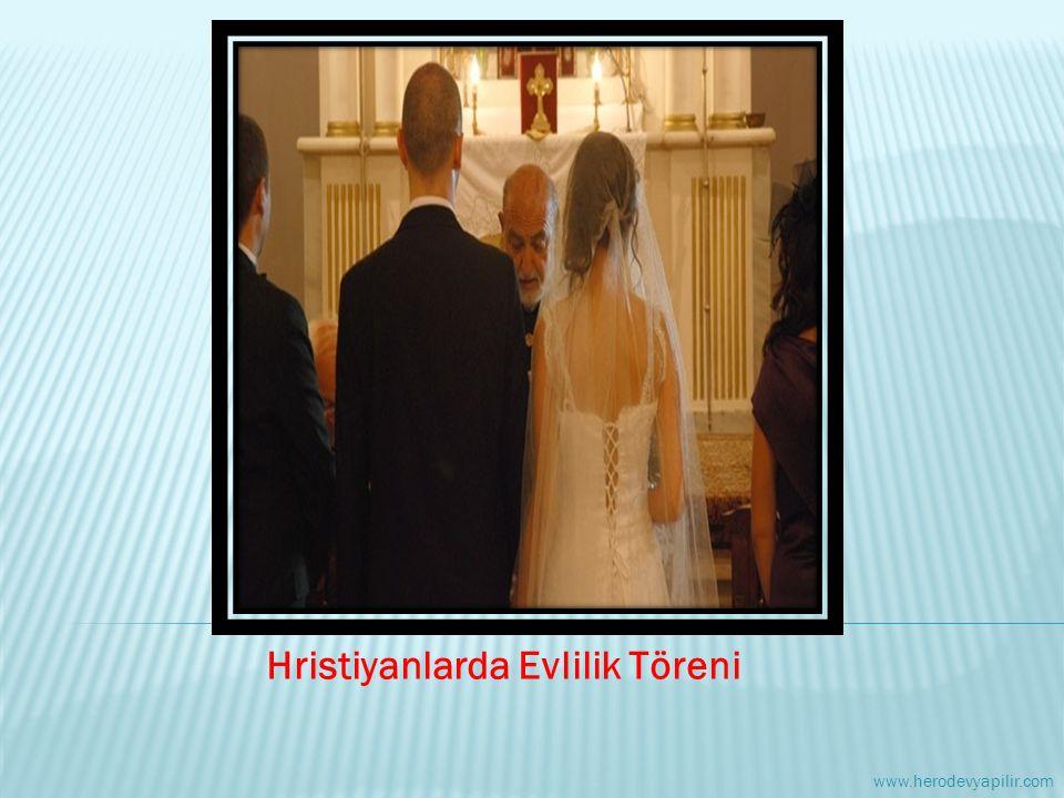 Hristiyanlarda Evlilik Töreni