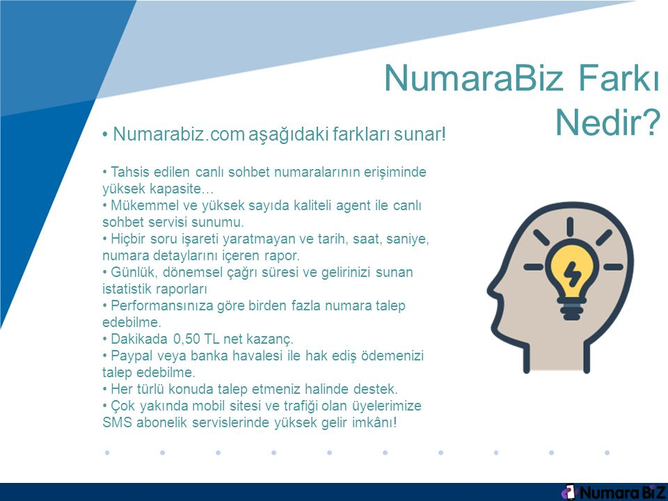 NumaraBiz Farkı Nedir Numarabiz.com aşağıdaki farkları sunar!
