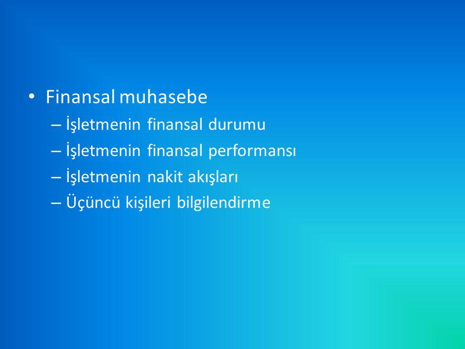 Finansal muhasebe İşletmenin finansal durumu