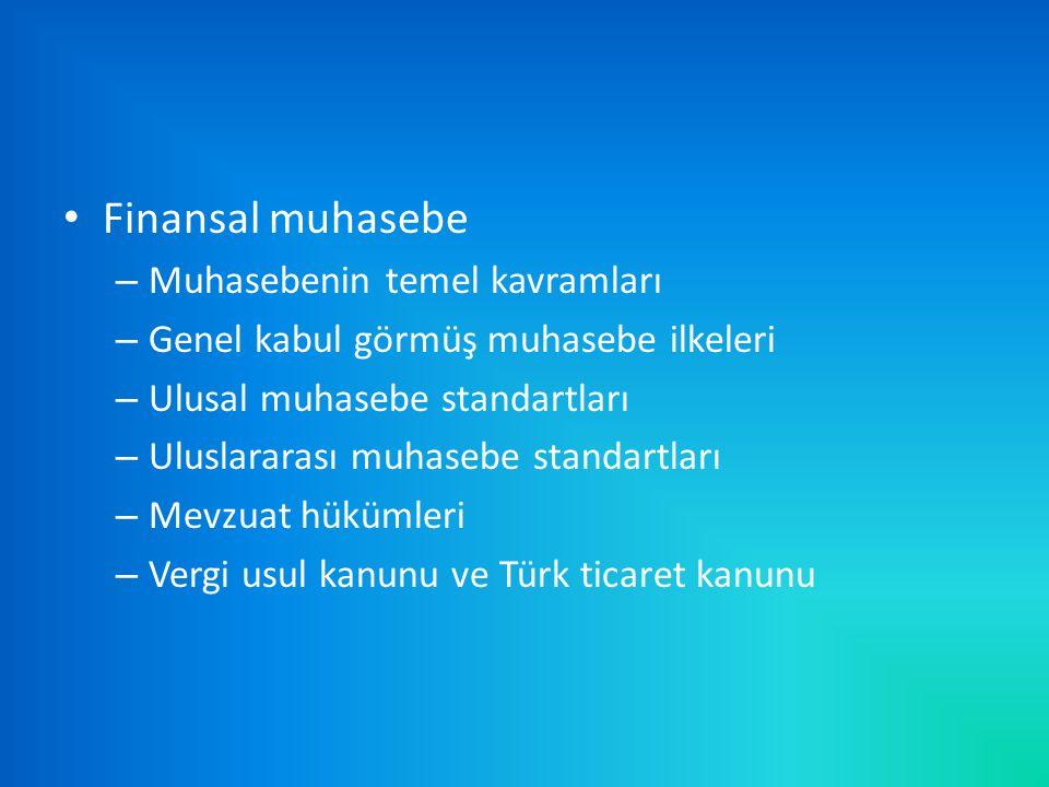 Finansal muhasebe Muhasebenin temel kavramları