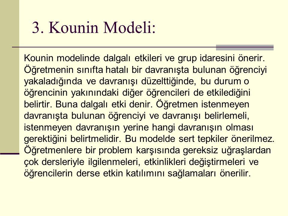 3. Kounin Modeli:
