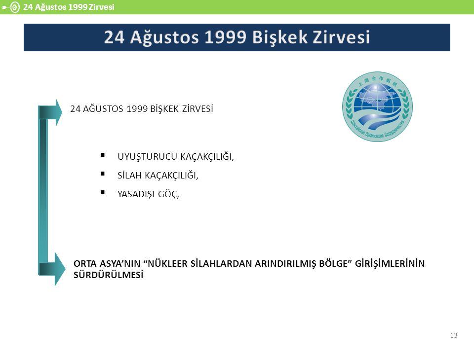 24 Ağustos 1999 Bişkek Zirvesi