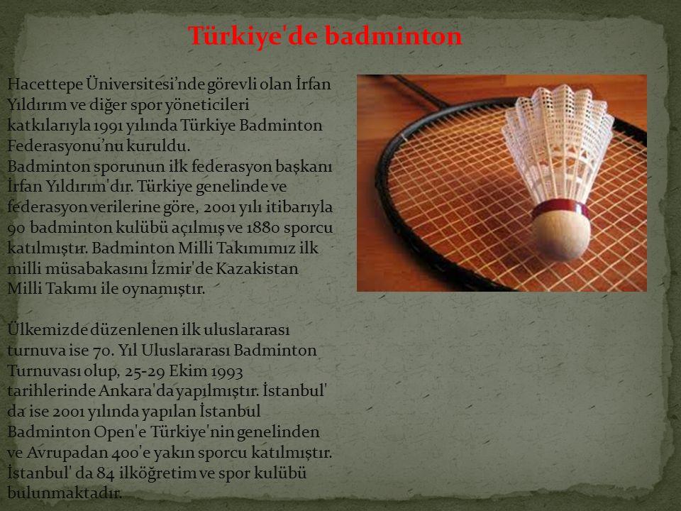 Türkiye de badminton