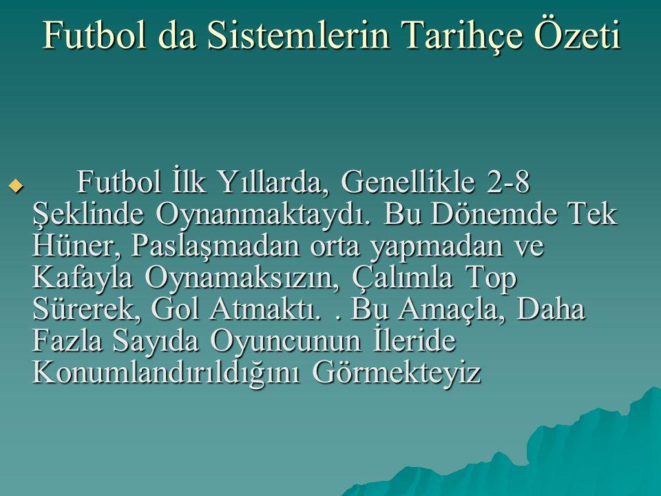 Futbol da Sistemlerin Tarihçe Özeti