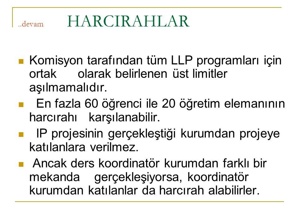 IP projesinin gerçekleştiği kurumdan projeye katılanlara verilmez.