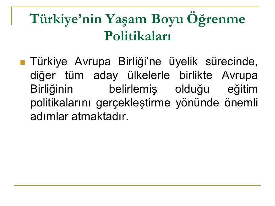 Türkiye'nin Yaşam Boyu Öğrenme Politikaları