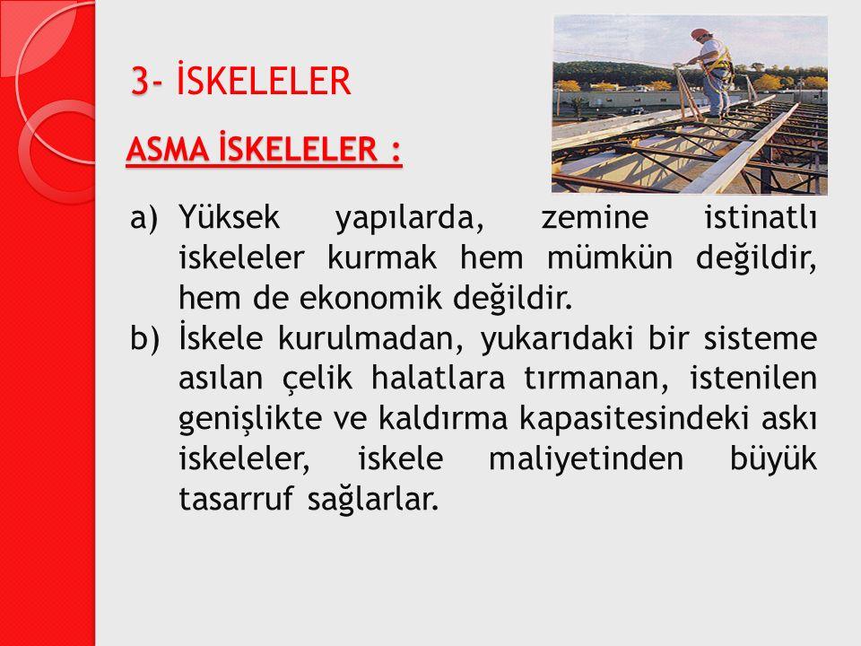 3- İSKELELER ASMA İSKELELER :
