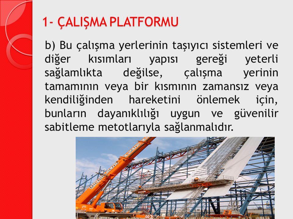 1- ÇALIŞMA PLATFORMU