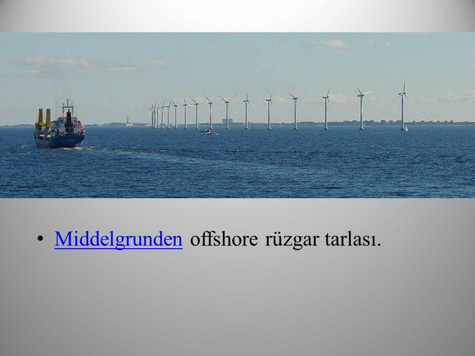 Middelgrunden offshore rüzgar tarlası.
