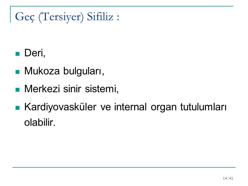 Geç (Tersiyer) Sifiliz :